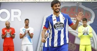 Alejandro Arribas, el día de su presentación con el Deportivo