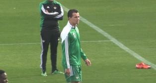 Leandro Damiao en su primer día como nuevo jugador del Betis