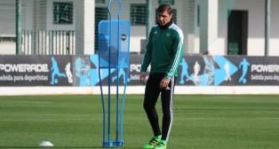 Joaquín, en el entrenamiento del jueves (Foto: RBB)