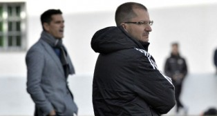 El entrenador del Betis B, José Juan Romero, en un encuentro de la pasada temporada