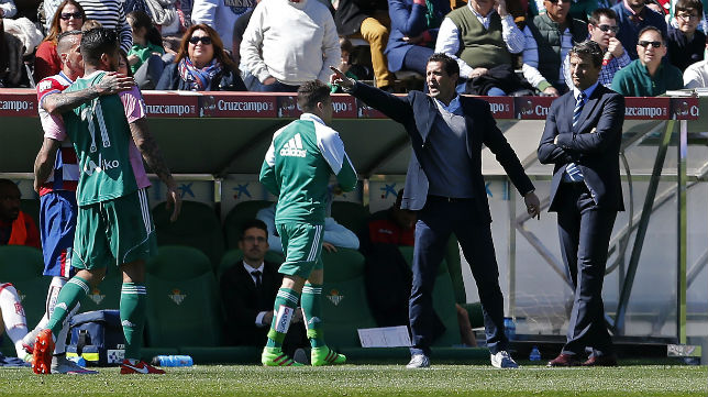 Juan Merino, durante el Betis-Granada