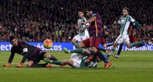 Adán, en el último Barcelona-Betis