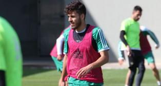 Dani Ceballos, en el entrenamiento de este martes (Foto: www.realbetisbalompie.es)