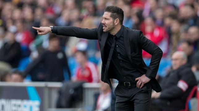 Simeone, en el partido ante el Betis
