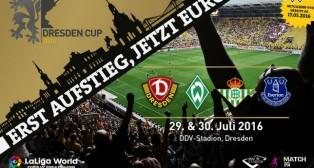 Cartel del torneo de pretemporada en el que participará el Betis (@dynamodresden)
