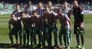 El once del Betis ante el Granada (Foto: Raúl Doblado).