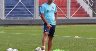 Marcos Álvarez, en un entrenamiento con el San Lorenzo de Almagro (Foto: Ole.com.ar)