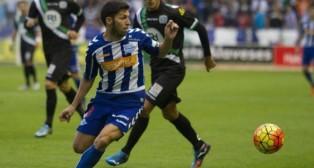 Dani Pacheco, en el Alavés-Córdoba de esta temporada