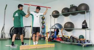 Álex Martínez, en un entrenamiento