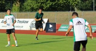 Poyet, durante un entrenamiento del Betis en Alemania