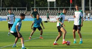 Sanabria, Rubén Castro, Hinojosa y Fabián (Foto: R. R.)