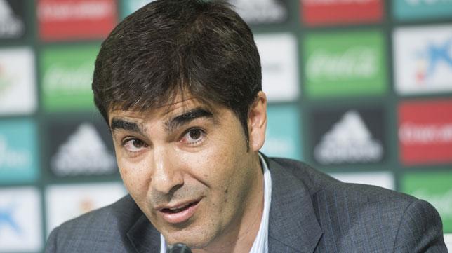 El presidente del Betis, Ángel Haro (foto: EFE/Raúl Caro)
