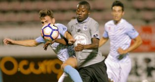 El colombiano Marlos Moreno debutó con el Deportivo en el amistoso ante la SD Compostela (Foto: EFE)