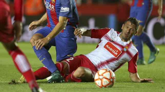 Demichelis, en el Barcelona-Espanyol (Foto: EFE)
