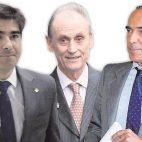 Ángel Haro, Manuel Ruiz de Lopera y Luis Oliver (Foto: ABC)