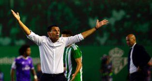 Poyet, en el Betis-Madrid