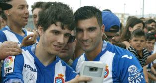 José Antonio Reyes, tras ser presentado este verano con el Espanyol