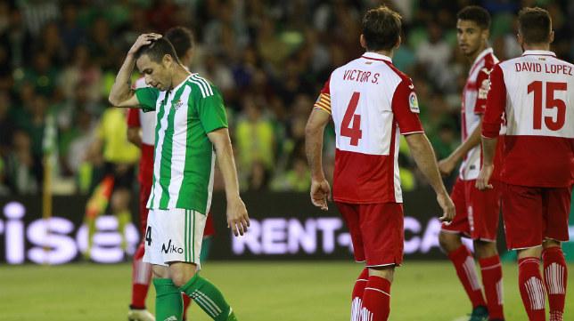 Rubén Castro se lamenta en un instante del Betis-Espanyol