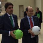 Ángel Haro, junto a José Castro, en la presentación del 'Champions for Life'
