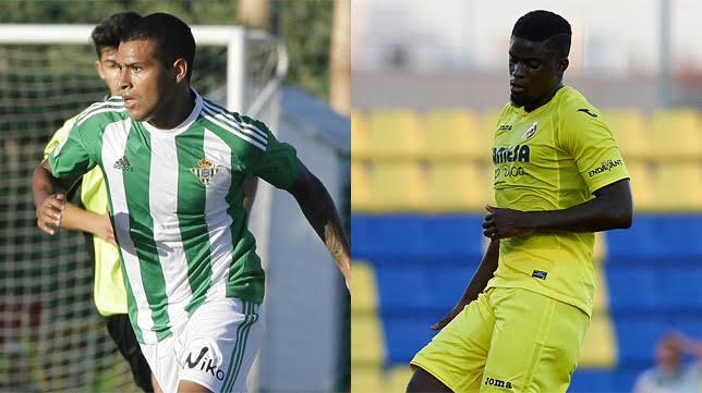 Nahuel y Ndiaye en sendos encuentros con el Betis y el Villarreal, respectivamente (Foto: AFDLP)