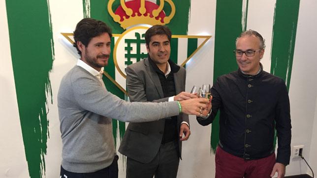 Víctor, Haro y Torrecilla, hoy en el estadio