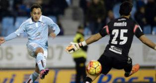 Orellana remata a gol en un partido ante el Levante (Foto: AFP)