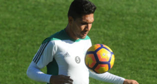 Petros, durante un entrenamiento (Foto: Juan José Úbeda).