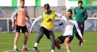 Piccini, en el entrenamiento del miércoles 7 de diciembre (Foto: RBB)