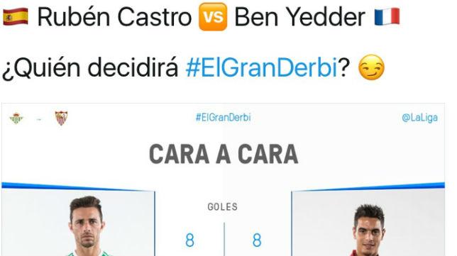 Cara a cara entre Rubén Castro y Ben Yedder