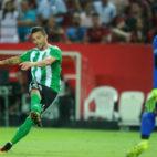 Rubén Castro, en el derbi Sevilla FC-Betis de la primera vuelta