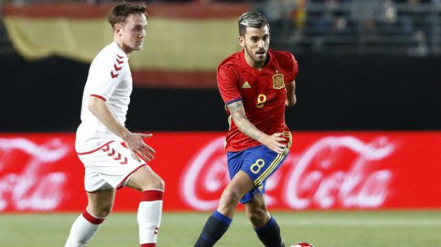 Ceballos, con la selección española sub 21 (Foto: @SeFutbol)