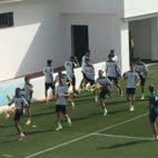 Imagen del último entrenamiento del Betis antes de viajar a Vigo (Foto: J. S.)