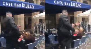 Las imágenes de la agresión del ultra en Bilbao