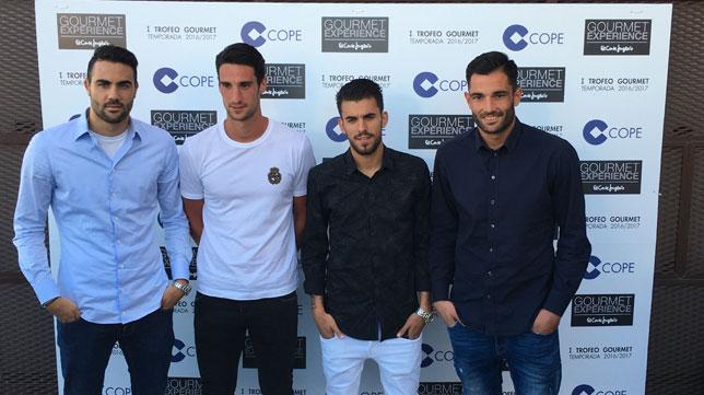 Iborra, Sergio Rico, Ceballos y Adán, en el I Trofeo Gourmet Cope Sevilla