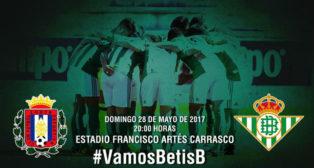 El Betis B juega hoy en el Artés Carrasco e intentará mantener el 2-0 de la ida (Foto: RBB)