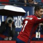 Sergio León celebra un gol anotado ante el Deportivo (Foto: EFE)