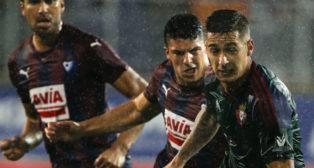 Sergio León, durante un partido del Osasuna contra el