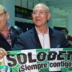 Serra Ferrer es recibido en el aeropuerto de San Pablo (Foto: Rocío Ruz)