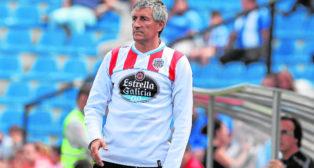 Quique Setién, en su etapa del entrenador del CD Lugo (Foto: Álex Domínguez)