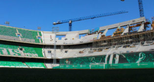 Aspecto de las obras del Benito Villamarín (Foto: Real Betis)