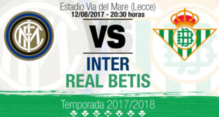Cartel del amistoso Inter-Betis