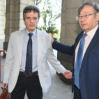 Jaime Rodríguez Sacristán, a la entrada en los juzgados (Foto: J. J. Úbeda)