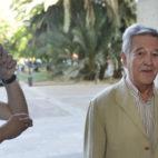José León, a la entrada de los juzgados (Foto: J. J. Úbeda)