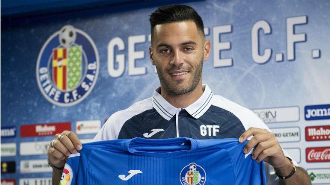 Bruno, durante su presentación como nuevo jugador del Getafe (Foto: EFE)
