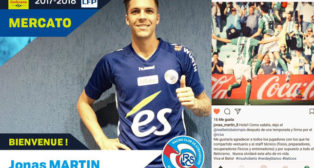 La despedida de Jonas Martin, ya jugador del Estrasburgo