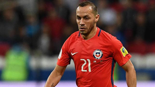 Marcelo Díaz, con la selección chilena