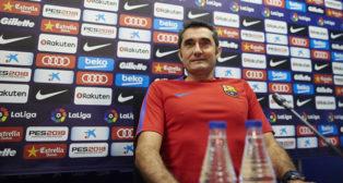 El entrenador del FC Barcelona, Ernesto Valverde (EFE/Alejandro García)
