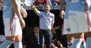 Juan Carlos Unzué, entrenador del Celta (foto: EFE/Salvador Sas)