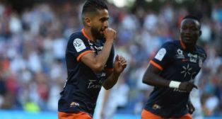 Boudebouz celebra un gol con el Montpellier