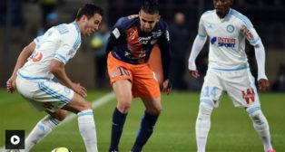 Ryad Boudebouz, en un partido contra el Marsella